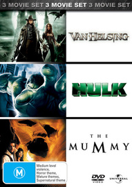 Van Helsing / Hulk / The Mummy (3 Disc Set) on DVD image