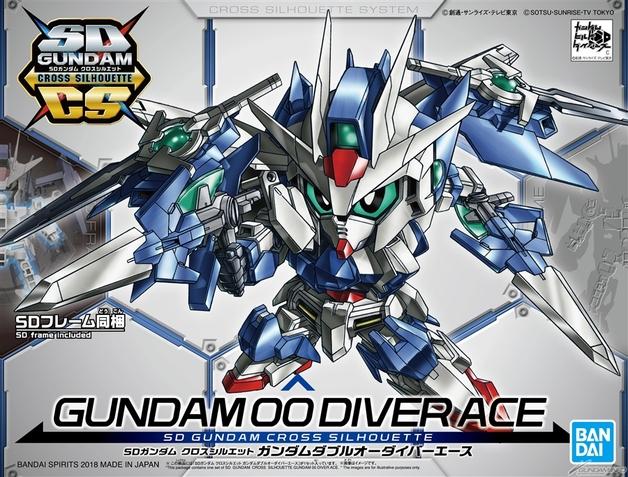 SD Cross Silhouette: Gundam 00 Diver Ace - Model Kit