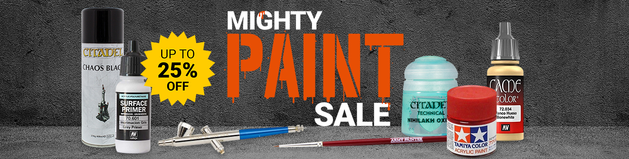 Save up to 25% off selected paints in our Mighty Paint Sale!