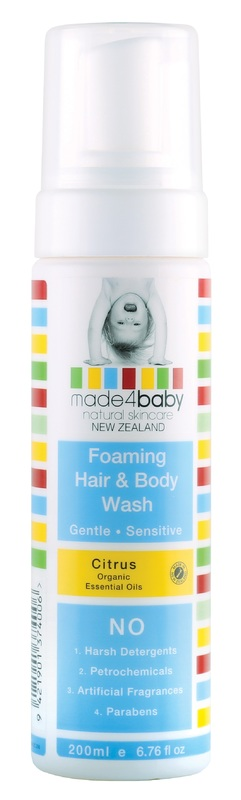 Made4Baby: Foaming Hair and Body Wash - Organic Citrus (200ml)