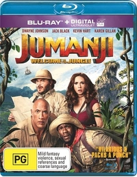 Jumanji: Welcome to the Jungle on Blu-ray