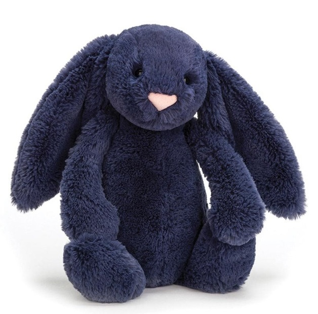 Jellycat: Bashful Navy Bunny - Small Plush