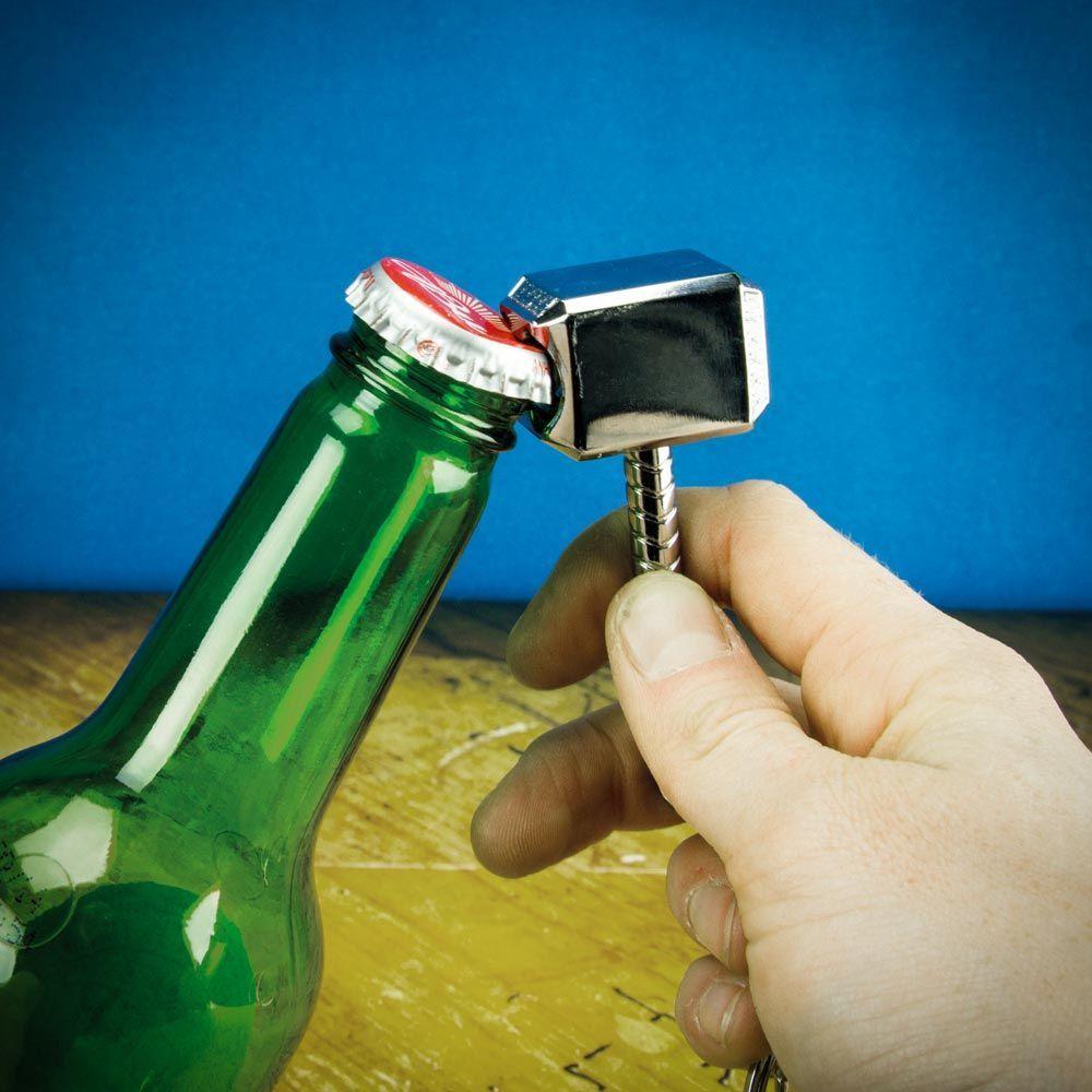 Thor's Hammer Bottle Opener Keyring image