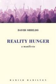 Reality Hunger: A Manifesto by David Shields image
