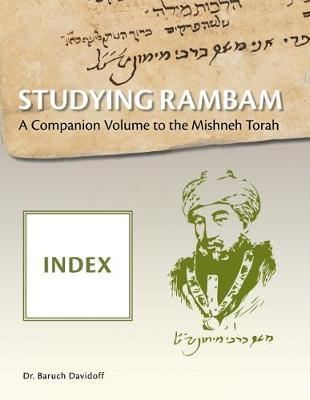 Studying Rambam. A Companion Volume to the Mishneh Torah image
