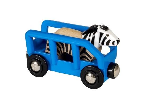 Brio: World - Safari Zebra & Wagon