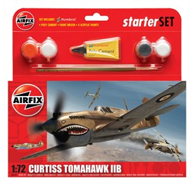 Airfix Curtiss Tomahawk IIB Starter Set 1/72 Model Kit