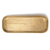 Nadee Tray Oblong - Brass Small Metal