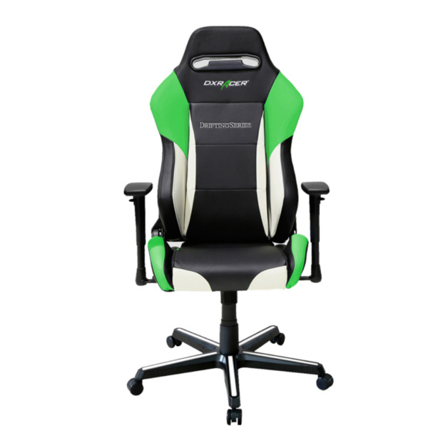 DXRacer Drifting Series DM61 Gaming Chair (Black and Green) for