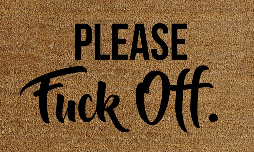 Natural Fibre Doormat - Please F*ck Off image
