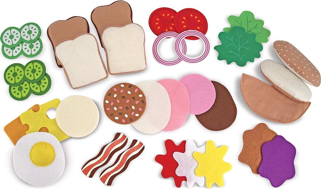 Toy Food Clip Art : Melissa doug felt play food sandwich set toy at