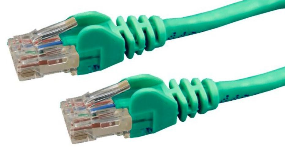 DYNAMIX Cat6 UTP Patch Lead (T568A Specification) 250MHz Slimline Snaggles Moulding - Green (5m) image