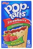 Kellogg's Pop Tarts Unfrosted Strawberry