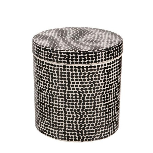 Ceramic Bathroom Canister (Black Spot)