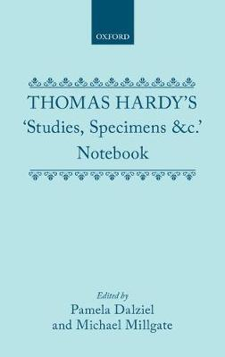 Thomas Hardy's 'Studies, Specimens &c.' Notebook by Thomas Hardy