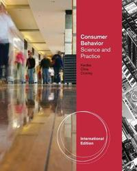 Consumer Behavior: Science and Practice, International Edition by Frank R Kardes image