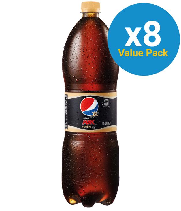 Pepsi Max Vanilla 1.5L (8 Pack)