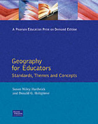 Geography for Educators by Susan Wiley Hardwick image