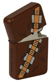 Furry Bandolier Windproof Lighter - Matte Brown