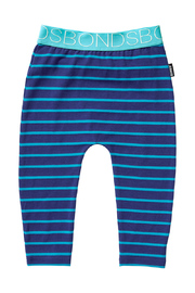 Bonds Stretchy Leggings - Teal Life Stripe (0-3 Months)