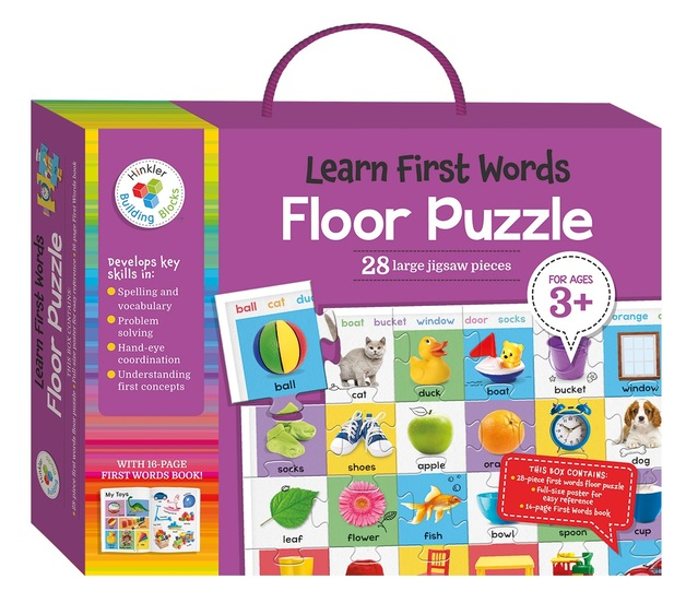 Hinkler: Learn First Words - Floor Puzzle