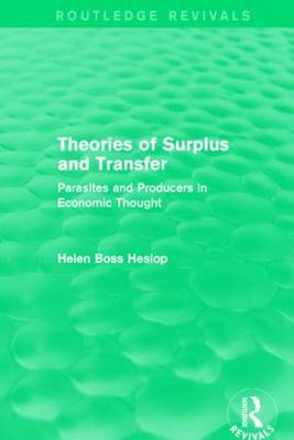 Theories of Surplus and Transfer by Helen Heslop