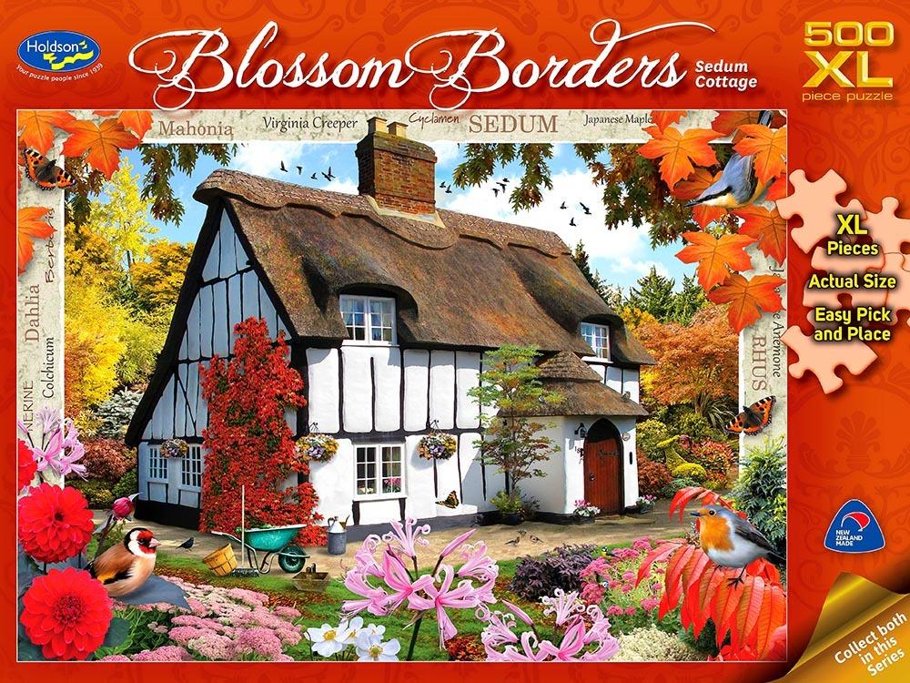 Holdson XL: 500 Piece Puzzle - Blossom Borders (Sedum Cottage) image