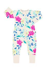 Bonds Zip Wondersuit Long Sleeve - Unreal Floral (New Born)