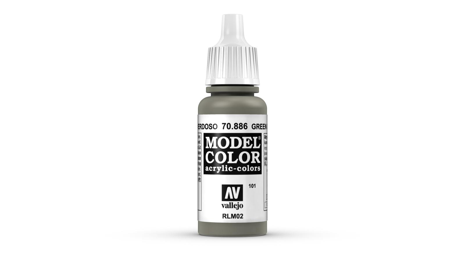 Vallejo Model Colour Green Grey (101) 17ml image