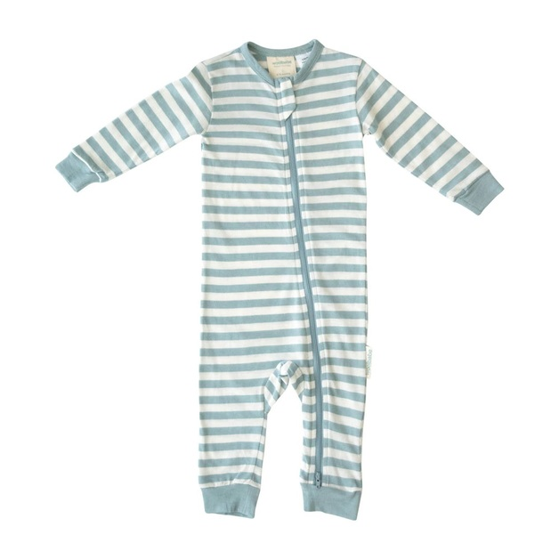 Woolbabe: Merino/Organic Cotton PJ Suit - Tide (4 Years)