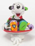 Romero Britto - Mickey in Sled Mini Figurine