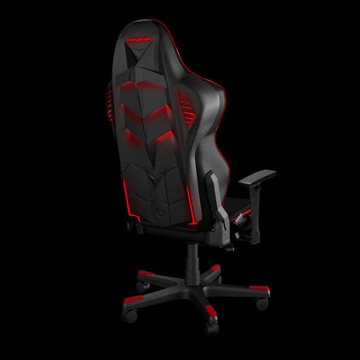 Dxracer Racing Series Led Gaming Chair Black Amp Red