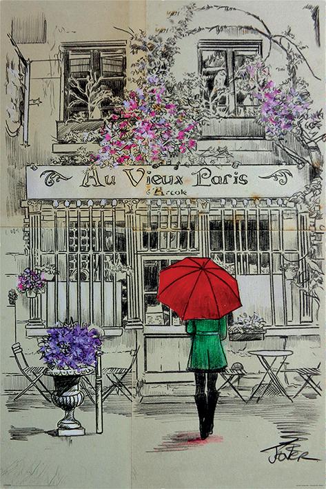 Loui Jover Maxi Poster - Au Vieux Paris (993)