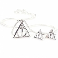 Harry Potter: Necklace & Earring Set - Deathly Hallows