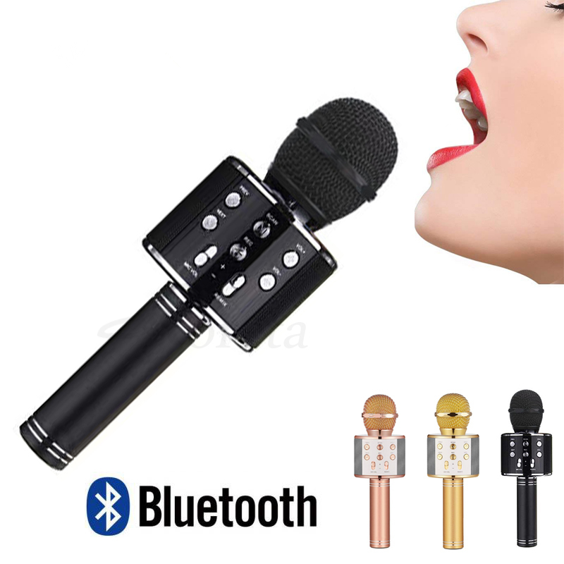 Karaoke Microphone with Bluetooth Speaker - Black image