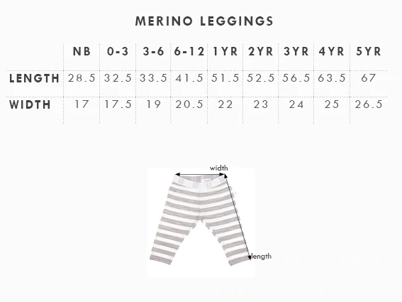 Babu: Merino Footless Leggings - Tui Green (4 Years) image