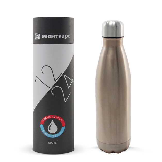 Insulated Stainless Steel Bottle 500ml Gloss Champagne