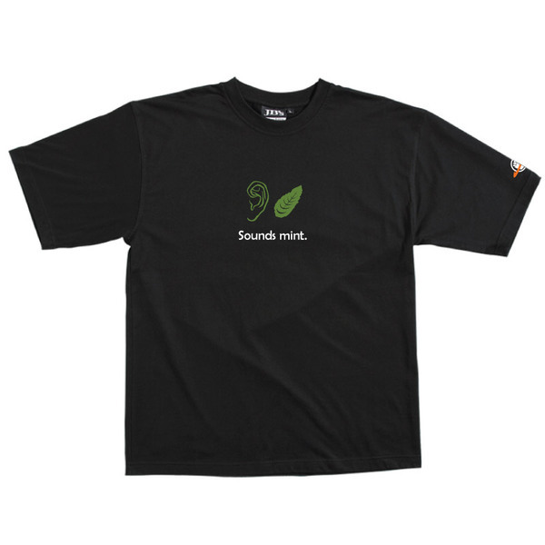 Sounds Mint - Tshirt (Black) Small for