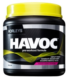 Horleys Havoc Pre-workout 330g (Fusion Berry) image