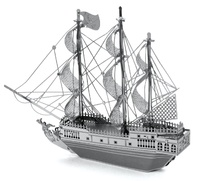 Metal Earth: Black Pearl Pirate Ship - Model Kit