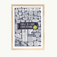 How To Cook Everything Vegan Print - A4