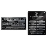 Firefly Builder's Plaques Metalized Sticker Set (Indoor / Outdoor)