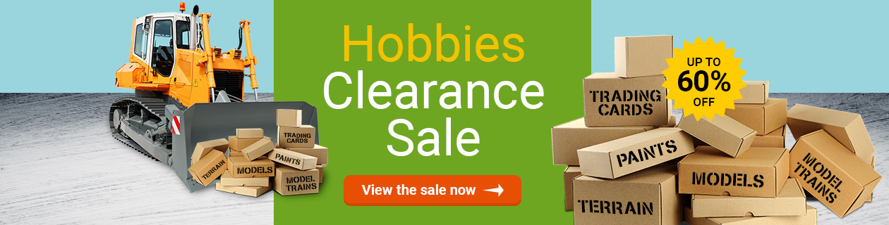 Hobbies Clearance Sale on NOW!