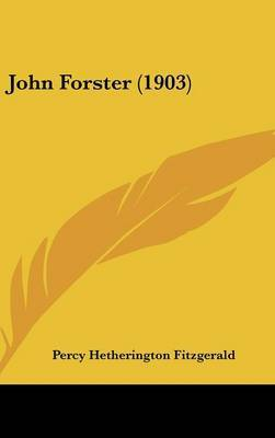 John Forster (1903) by Percy Hetherington Fitzgerald image