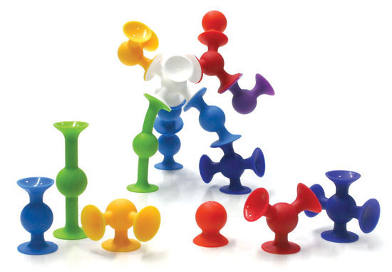 Fat Brain Toys: Squigz - 24 Piece Suction Construction