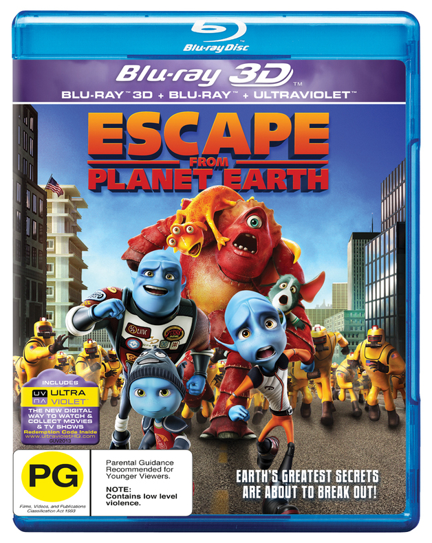 Escape From Planet Earth on Blu-ray, 3D Blu-ray