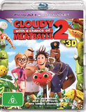 Cloudy with a Chance of Meatballs 2 in 3D (Blu-ray 3D/Ultraviolet) DVD