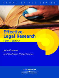 Knowles and Thomas: Effective Legal Research by P.A. Thomas image