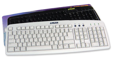 Laser Keyboard USB Beige image