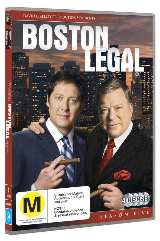 Boston Legal - Season 5 (4 Disc Set) on DVD